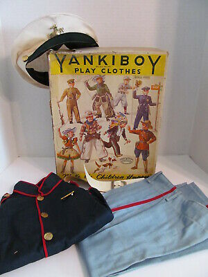 Vintage Yankiboy Play Clothes Military Marine 308 Size 4 Child's Outfit