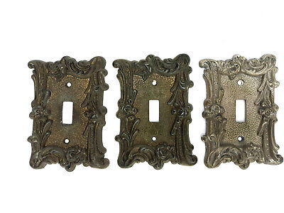 3 Lot Edmar 60T Light Switch Plate Cover Single Toggle Victorian Roses Shabby