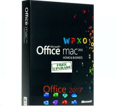 Microsoft Office Home and Business 2011 plus Free Upgrade to Office 2019 for Mac