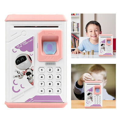 Electronic Piggy Bank ATM Password Money Coin Automatic Safe Saving Box For Kids