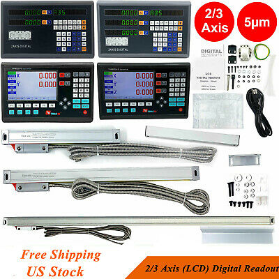 LCD/ Digital Readout Encoder DRO TTL Linear Scale for Milling Lathe 2/3 Axis