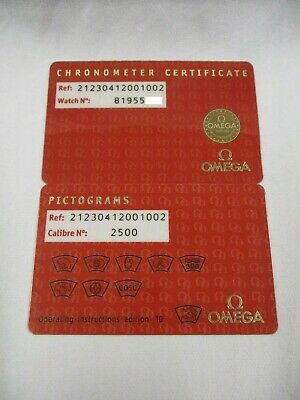 Omega Seamaster 300M Co-Axial Watch 212.30.41.20.01.002 Pictograms & Certificate
