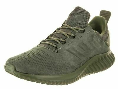 Adidas Alphabounce Cr Running Sneakers Trainer Sport Men Shoes Olive Size 12 New