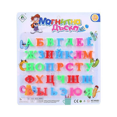 33 pcs Russian Alphabet Fridge Magnets Baby Educational Learning Toys BN