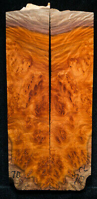 """Coolibah Burl #70 Knife Scale 6.5-8""""x 1.75""""x 5/16"""" see 100 species in my store"""