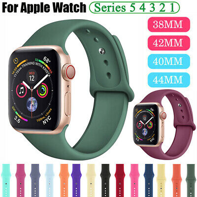 Sports Silicone Bracelet Strap Band for Apple Watch Series 5 4 3 2 38 40 42 44mm