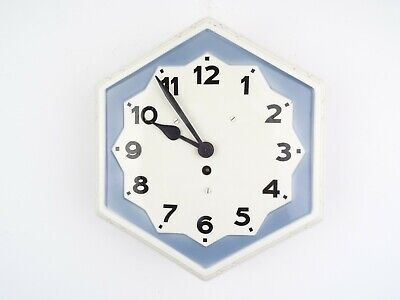 Retro German Vintage Ceramic Kitchen Wall Clock (Junghans Kienzle Mauthe era)
