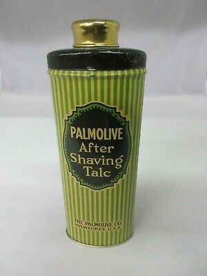 Palmolive After Shaving Talc Retro Vintage Tin Collectible New Old Stock Unused