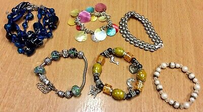 Collection Of Six Small Beaded Bracelets