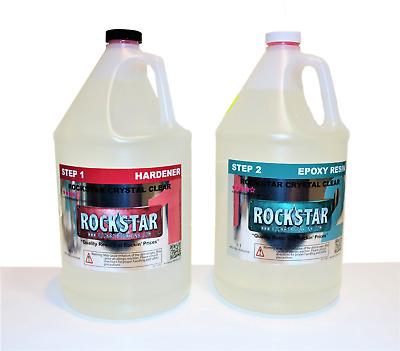 Rockstar Crystal Clear Premium Epoxy Resin - 2Gallon Kit - UV Protect