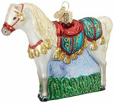 DAIRY COW KUH EUROPEAN BLOWN GLASS CHRISTMAS TREE ORNAMENT BROWN SWISS JERSEY