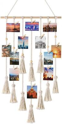 Mkouo Hanging Photo Affichage macramé Tenture Murale Patern 2 With Beads