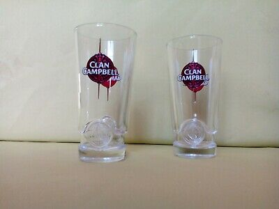 6 Verres A Whisky Clan Campbell  Nouveau Model N°2 Neufs !!!