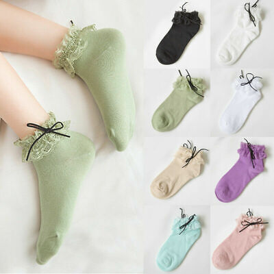 Girl Lace Ruffle Frilly Ankle Lace Socks Ruffle Frilly Princess Sock Fashion