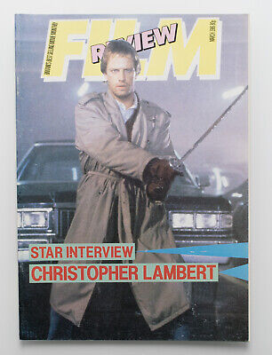 Film Review magazine March 1986 Christopher Lambert in Highlander cover