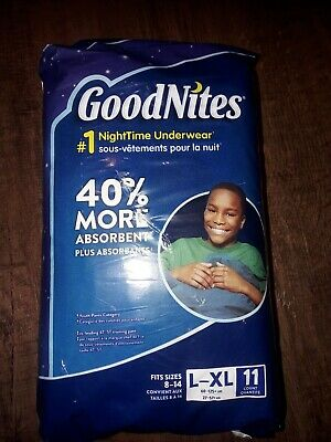 GoodNites Bedtime Bedwetting Underwear for Boys, Size L/XL, 11 Count 60-125 Lbs