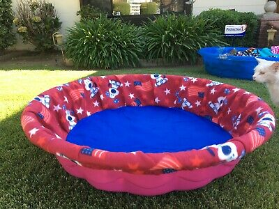 LARGE USA Flags Dog Puppy Whelping Pool Cover By CaliPups Box Wading
