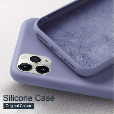 For iPhone 11 Pro Max X XR 8 7 6 Plus 5 SE New Liquid Silicone Simple Case Cover