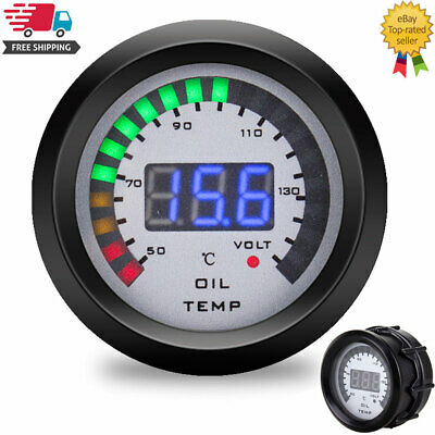 52mm oil temp gauge Car Digital ALARM Gauge Pressure Voltmeter Volt Meter 12V