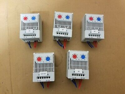 Lot of 5 Siemens Thermostat 8MR 2170-1E 0-60°C DIN Rail Mount