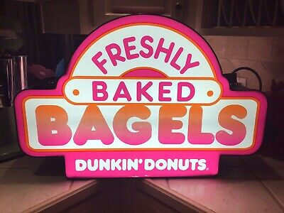 Dunkin Donuts Lighted Double-Sided Sign - SALE SALE SALE