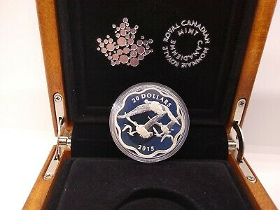 Canada 2015 Master of Sky Canadian Goose Geese Coin $20 Silver Prf