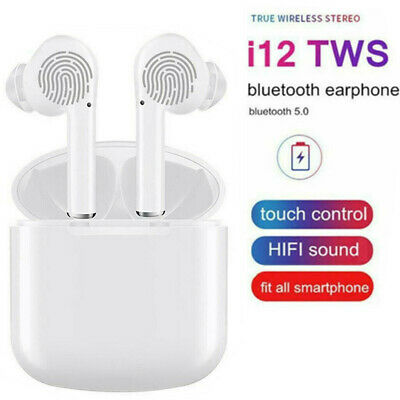 TWS Wireless Bluetooth Earphones  TouchControl Headset Earbuds White