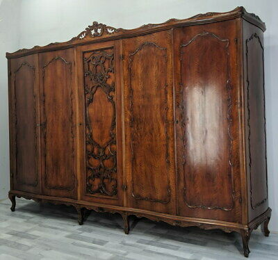 Barok  Antique French Carved  5 door Armoire Wardrobe