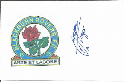 Football Autograph Andre Doijer Blackburn Rovers Signed 14 x 9cm Card U2003