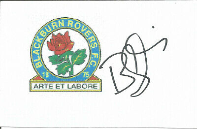 Football Autograph Bobby Mimms Blackburn Rovers Signed 14 x 9cm Card U2012