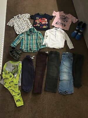 Boys Clothes Bundle Age 4-5, Next, M&S, VGC, Jeans, Tops, Shoes, Pyjamas, Jogger