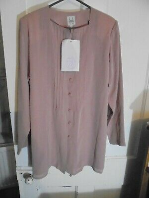 Maternity size 10, Dusky Pink Long Sleeved Shirt/Top Smart/Work wear RRP 25.00