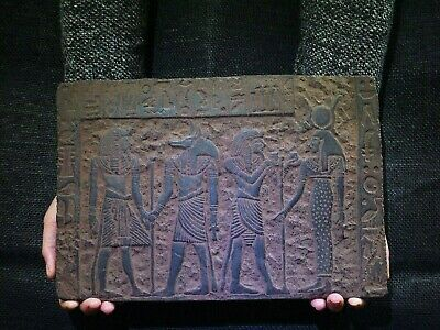 EGYPTIAN ANTIQUES ANTIQUITY Bearing Gifts for Isis Stela Stele 1211-1277 BC