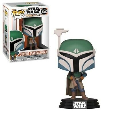 Funko Pop! Star Wars: Mandalorian - Covert Mandalorian w/Box Protector In Hand