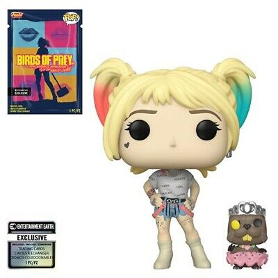 Funko Pop! Birds of Prey Harley Quinn With Beaver w/ Collectible Card In Stock