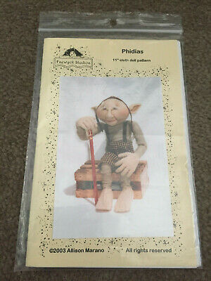 "Cloth Doll Pattern Phidias 11"" By Allison Marano 2003 Faewyck Studios"
