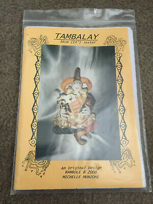 "Cloth Doll Pattern Tambalay 14"" Jester By Michelle Munzone 2000"