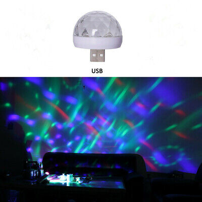 Mini USB Disco Party DJ LED Stage Effect Light Lamp Laser Crystal Magic Ball