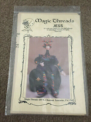 "Cloth Doll Pattern Jess ~ 20"" ~ By Julie McCullough ~ Magic Threads 1996 ~Jester"