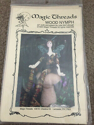 "Cloth Doll Pattern Wood Nymph ~ 22"" ~ By Julie McCullough ~ Magic Threads 1995"
