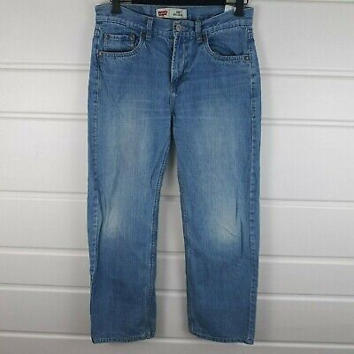Mens ~ Boys~ Levis 550 ~ Relaxed Fit ~ Blue Jeans ~18 Reg ~ 29 X 29 Measured