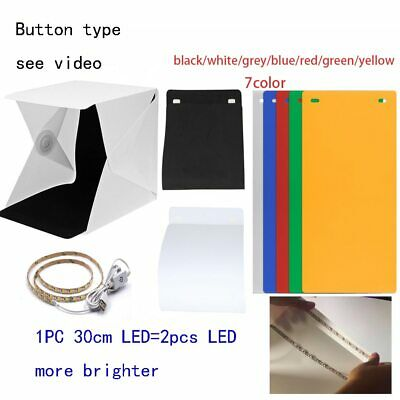 New Design Fixed by Button 2 LED Line Mini Lightbox Studio Photo Photography