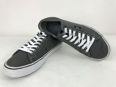 VANS Off The Wall Old Skool Canvas Lace Up Low Top SK8 Sneaker Trainer Grey 8.5