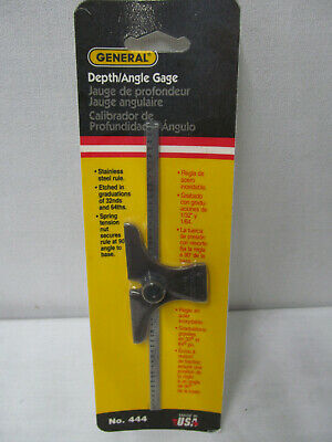 General #444 Depth And Angle Gage - New Zz030205