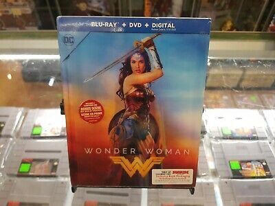Blu Ray - Wonder Woman (2017) - Lenticular Digibook - SEALED