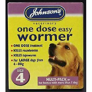 JVP One Dose Wormer for Larger Dog Size 4 - 20503
