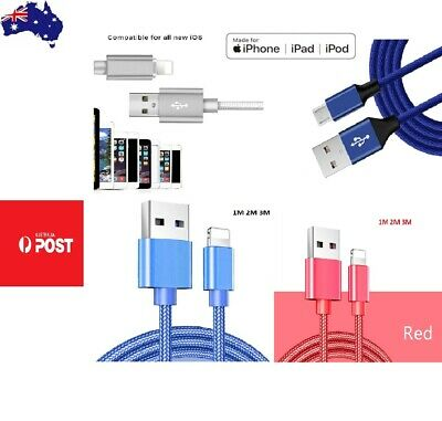 Braided USB Lightning Cable Cord Data for Apple Charger iPhone iPad 6 X 8 7 5 11