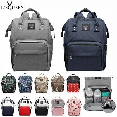 LEQUEEN Diaper Bag Mummy Baby Care Nappy Bag Large Capacity Backpack Travel Bag