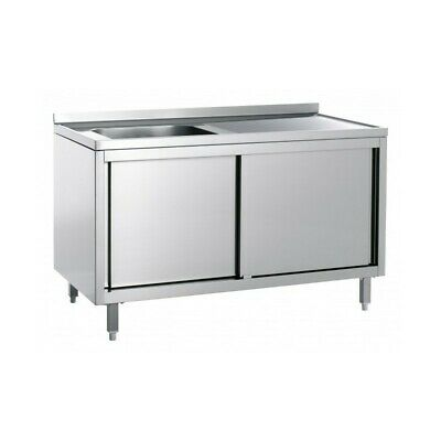 Sink Stainless Steel Closed - Tub Left - Width 120 CM