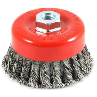 4 In. X 5/8 In.-11 Threaded Arbor Knotted Wire Cup Brush